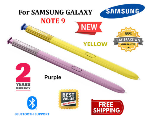 OEM Samsung Galaxy NOTE 9 S Pen Bluetooth NEW Replacement Stylus PURPLE - YELLOW