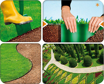 VERY STRONG PLASTIC GARDEN GRASS LAWN EDGE ...