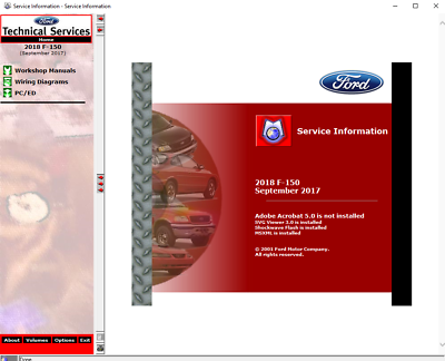 2018 Ford F-150 F150 RAPTOR, XL, XLT, Lariat Service Repair Workshop Manual USB