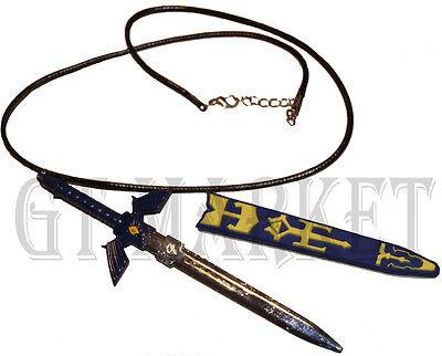Zelda Kette mit Schwert blau - Zelda Halskette - Link Master Halskette