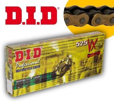 Did Drive Shaft Chain 525 Vx X Ring 124 Links Rivet Link Gold Black