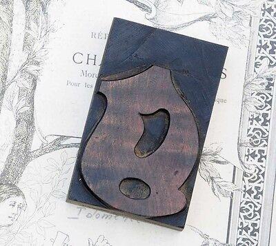 Letter G Blackletter Wood Type 3.54 Woodtype Font Letterpress Printing Block G