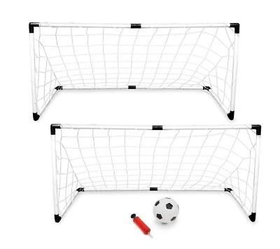 Best Youth Soccer Goal Goalie Net With Soccer Ball Pump Set of 2 Outdoor (Best Soccer Goal Nets)