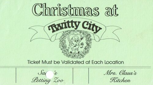 Conway Twitty City Christmas Ticket VINTAGE RARE
