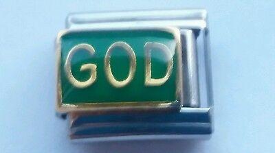 - GOD Lord RELIGION Faith 9mm Italian Charm Fits Classic Starter Bracelet Link