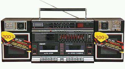 Maxim (Sharp 939 copy) retro 80's cassette radio boombox ghettoblaster NOS Boxed