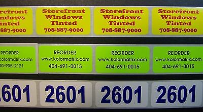 Custom Stickers Labels Printed 1 X 2 Rectangle 250 Business 1-color Ink Roll