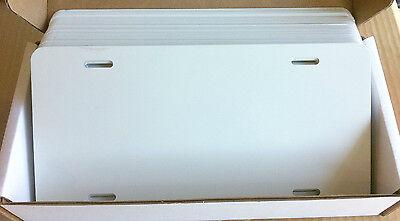 25pcs.024 6x12 Gloss Whitewhite Aluminum License Platecar Tag Blanks Masked
