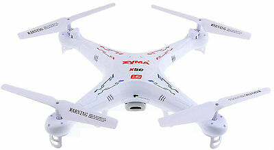 6-Axis Gyro Remote Controlled Quadcopter Helicopter Drone HD Camera Syma X5C