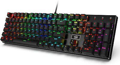 Redragon K556 RGB Backlit Mechanical Gaming Keyboard Brown Switch 104 Keys Used