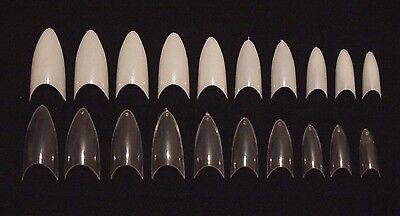 Fake Vampire Nails (20 100 500 Stiletto Pointed End Vampire False Nail Art Tips Fake Acrylic)