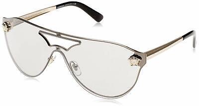 Versace VE 2161 1002/6G Pilot Sunglasses Gold / Light Grey Mirror Silver Lens