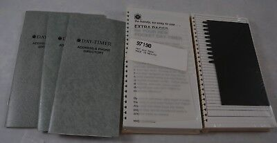 Day Timer 3 Address Phone Directory 2 Extra Pages Packets Compact Size Lot