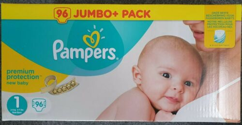 Pampers Premium Protection New Baby Größe 1 2-5kg 96 Windeln Halbmonatsbox WE63