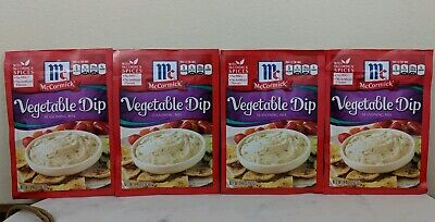 McCormick Vegetable Dip Seasoning Mix (Pack of 4) .46 oz Packets EXP 11/19 Dried