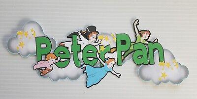 Disney inspired page title  peter pan printed scrapbook page die cut