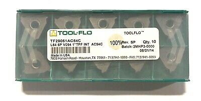 Tool-flo Carbide Inserts L54 5p V094 1 Tpf Int Grade Ac54c Insert 10 Pack