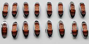 16-NEW-LED-OBLONG-CLEARANCE-SIDE-MARKER-TRUCK-LIGHT-AMBER