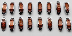 16-NEW-LED-OBLONG-CLEARANCE-SIDE-MARKER-TRUCK-LIGHT-AMBER