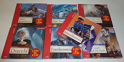 Dracula Frankenstein Münchhausen Seewolf Monte Christo Mr. Hyde 14 CD`s Sammlung