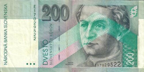 Slovakia 200 Korun 1995 Banknote Good Condition World Paper Money