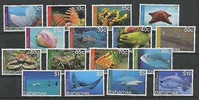 (W0458) BAHAMAS, FISH/MARINE LIFE 2012, SET, UM/MNH, SEE SCAN
