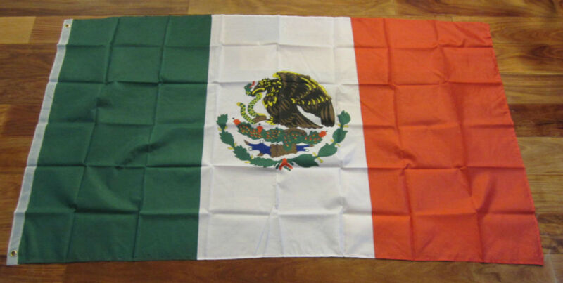 12 NEW FLAGS OF MEXICO  INDOOR OUTDOOR MEXICAN FLAG BANNER 3