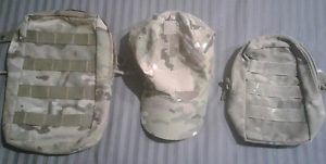 Army Multi-cam defence molle pouches cap hat auscam Loganlea Logan Area Preview