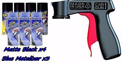 Performix Plasti Dip Deluxe Wheel Kit 4 Matte Black Blue Metalizer 3 Cans V-grip