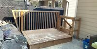 Carpenter for hire Decks stairs patios framing renovations
