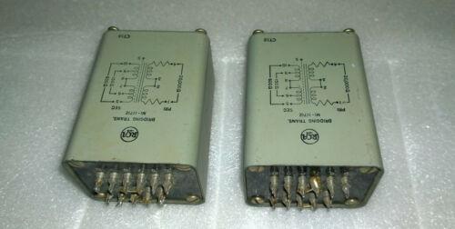 Pair of RCA MI-11712 Bridging Audio Transformer 20Kohm to 150/600ohm Line Output