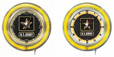 Military - U.S. Army Double Neon Ring, Logo (Us Army Neon Clock)