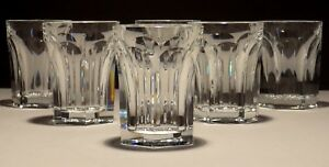 6 BACCARAT CRYSTAL HARCOURT WHISKEY GLASSES ~ 2 3/4