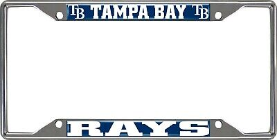 Fanmats MLB Tampa Bay Devil Rays Chrome Metal License Plate Frame Del. 2-4 Days