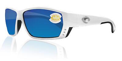 Costa Del Mar Tuna Alley White Frame Blue Mirror 580P Plastic Polarized (Costa Sunglasses Tuna Alley)