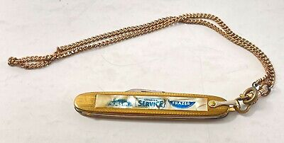 Vintage Colonial Cutlery Pocket Knife Prov R.I. Made Kaiser Frazer Advertisement