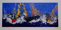 Toraldo Francesco - Serigrafia Polimaterica Su Carta 50x100cm -coppa America -  - ebay.it
