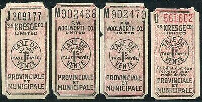 CANADA REVENUE QUEBEC 1¢ SALES TAX (Canada Sales Tax)