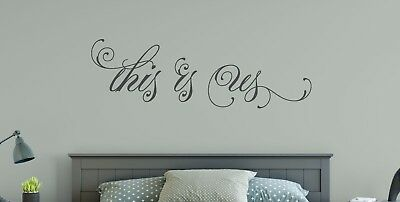 THIS IS US Couple Marriage Wedding Wall Art Decal Quote Words Lettering Decor