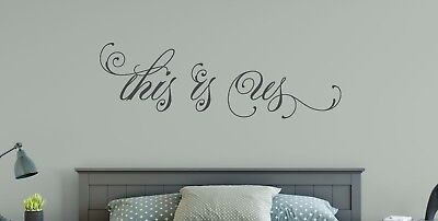 THIS IS US Couple Marriage Wedding Wall Art Decal Quote Words Lettering Decor  (Wedding Decals)