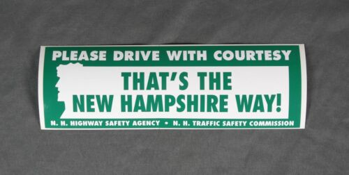 Vintage Drive with Courtesy New Hampshire Way Bumper Sticker