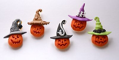 Jacks in the Hats / Pumpkin / Halloween Buttons / Dress It Up Jesse James - Jesse Halloween