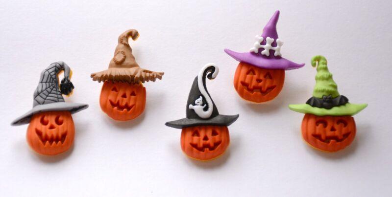 Jacks in the Hats / Pumpkin / Halloween Buttons / Dress It Up Jesse James Co.