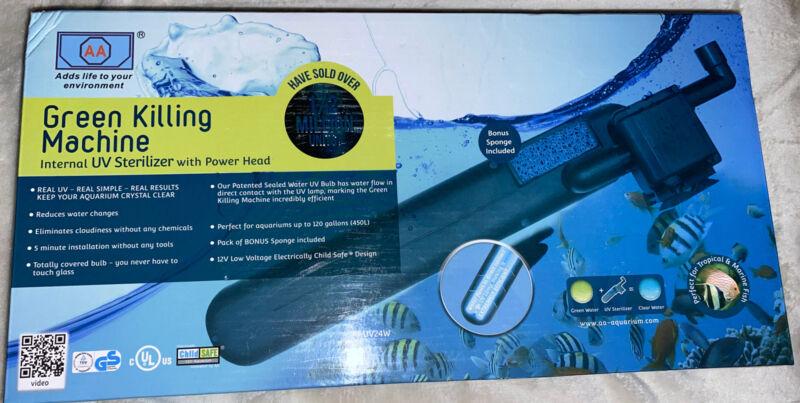 AA Aquarium Green-Killing Machine Internal UV Sterilizer Up To 120 Gallons