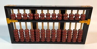 Lotus Flower Brand Chinese Abacus - 91 Beads Made The People's Republic Of China
