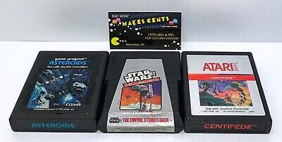 "Lot Of 3  - Atari 2600 Games ""Star War Empire Strikes Back Asteroids Centipede"