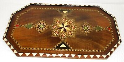 HIGH QUALITY EARLY INLAID MARQUETRY TRAY IN VERY GOOD CONDITION VERY FINE DETAIL
