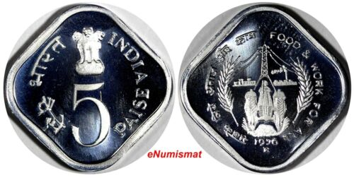 India-Republic PROOF Aluminum 1976 (B) 5 Paise F.A.O. Mumbai Mint KM#19