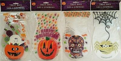 "Halloween Treat Bags & Ties 6""x10"", 25 Bags/Pk, Select: Theme"