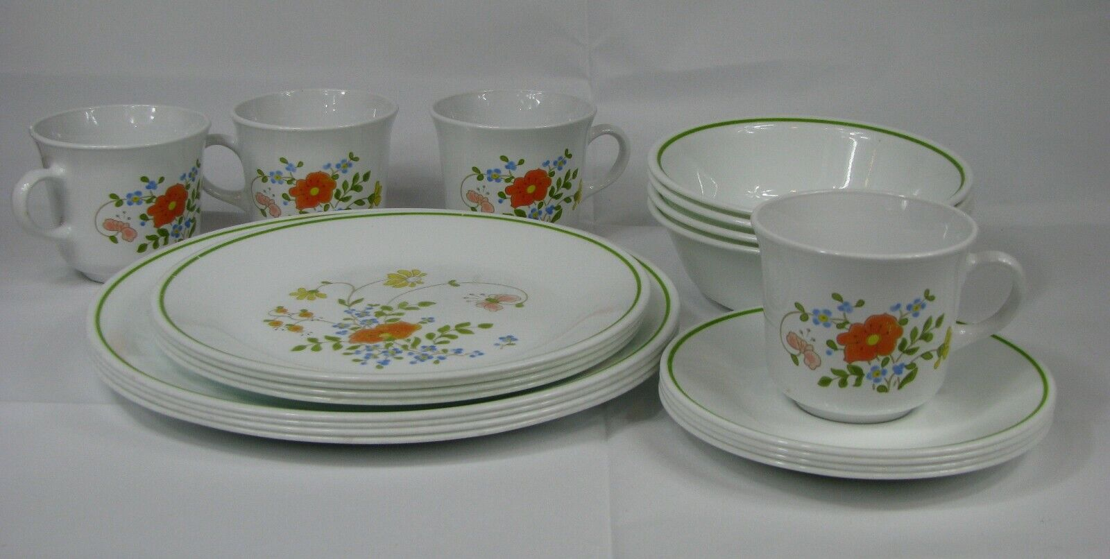 Corelle SPRING MEADOW 20 Pc Set Vintage Dinner Lunch Plates